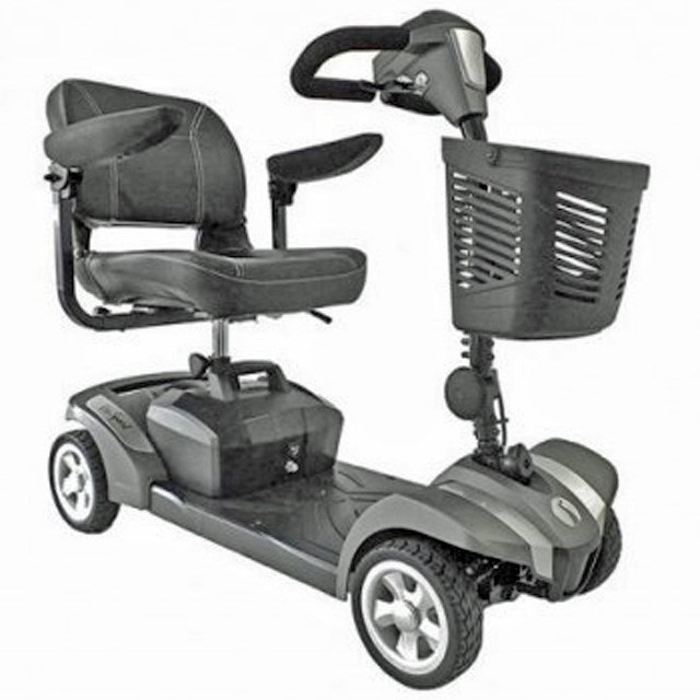 Electric Mobility Rascal Veo Sport - Platinum Grey Side View