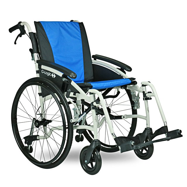 Excel G-Logic Self Propelled Wheelchair - Blue