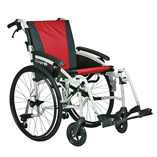 Excel G-Logic Self Propelled Wheelchair - Red