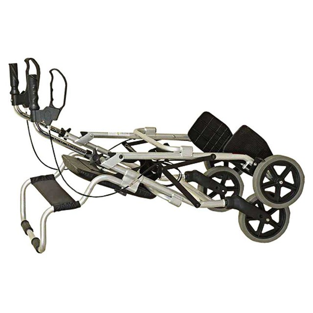 2 in 1 Rollator and Transit Chair - Folded