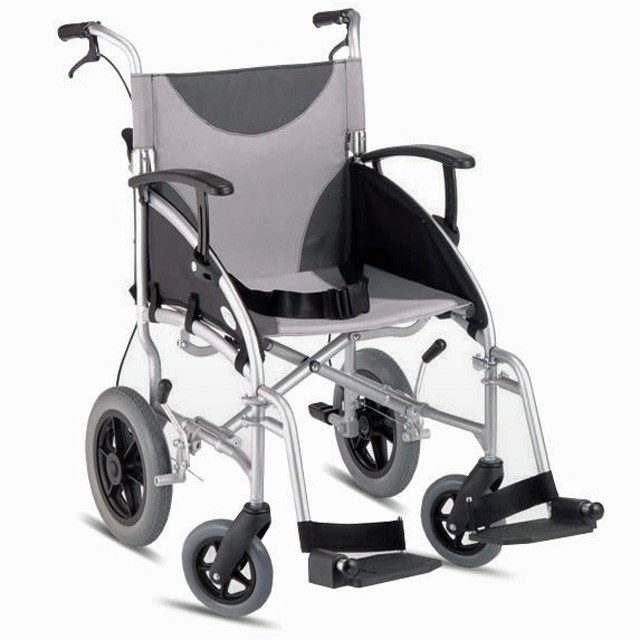 Z Tec Lightweight Folding Aluminium Transit Wheelchair